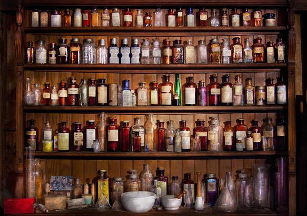 Pharmacy Poster featuring the photograph Pharmacy - Pharma-palooza by Mike Savad