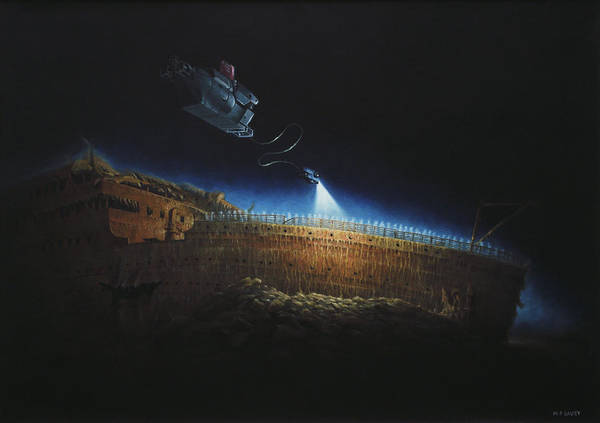 Titanic Poster featuring the painting Titanic Wreck Save Our Souls by Martin Davey