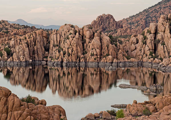 Prescott Poster featuring the photograph Watson Lake Tranquility by Angie Schutt