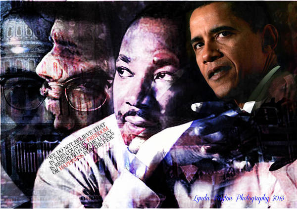 Barack Obama Poster featuring the digital art We Do Not Believe by Lynda Payton