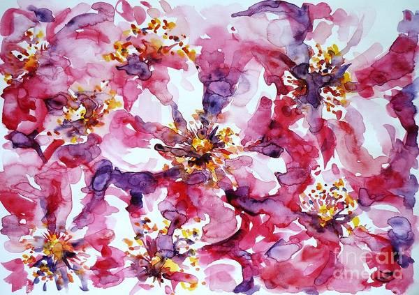 Wild Rose Poster featuring the painting Wild Rose by Zaira Dzhaubaeva
