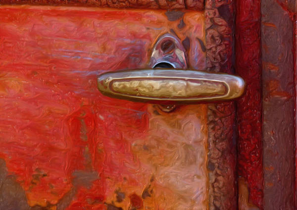 Handle Poster featuring the photograph 29 International Truck Handle by Jack Zulli