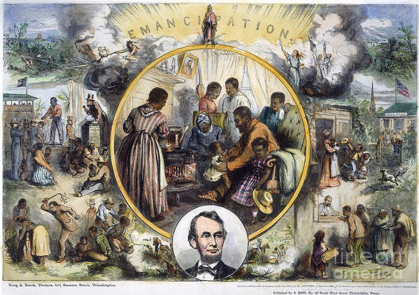 1863 Poster featuring the photograph Emancipation Proclamation by Granger