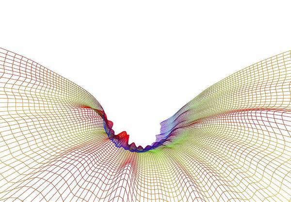 Artwork Poster featuring the photograph Abstract Line Pattern by Pasieka