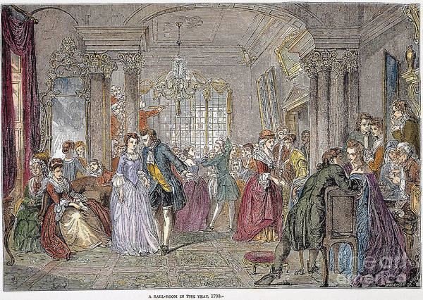 1760 Poster featuring the photograph Ballroom, 1760 by Granger
