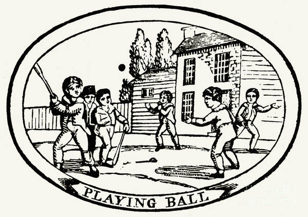 1820 Poster featuring the photograph Baseball Game, 1820 by Granger
