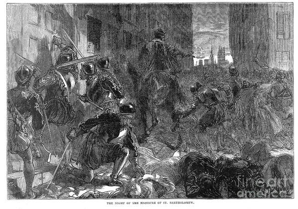 1572 Poster featuring the photograph France: Massacre, 1572 by Granger