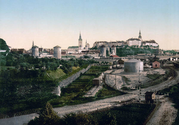 Reval Poster featuring the photograph Tallinn Estonia - Formerly Reval Russia Ca 1900 by International Images