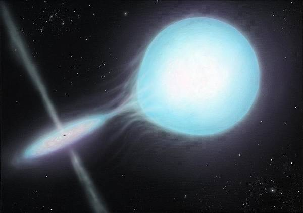 Star Poster featuring the photograph X-ray Binary, Artwork by Richard Bizley