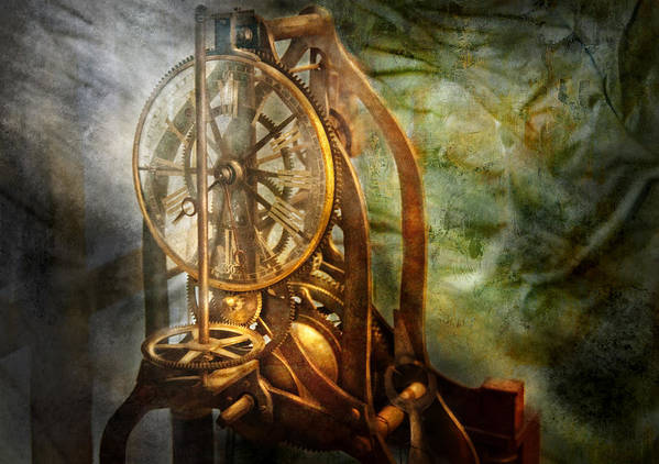 Hdr Poster featuring the photograph Clockmaker - The Day Time Stood Still by Mike Savad