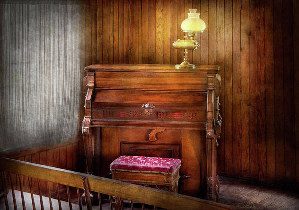Hdr Poster featuring the photograph Music - Organist - A Vital Organ by Mike Savad