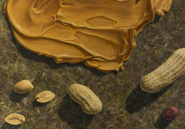 Peanuts Poster featuring the painting Peanut Butter And Peanuts by James W Johnson