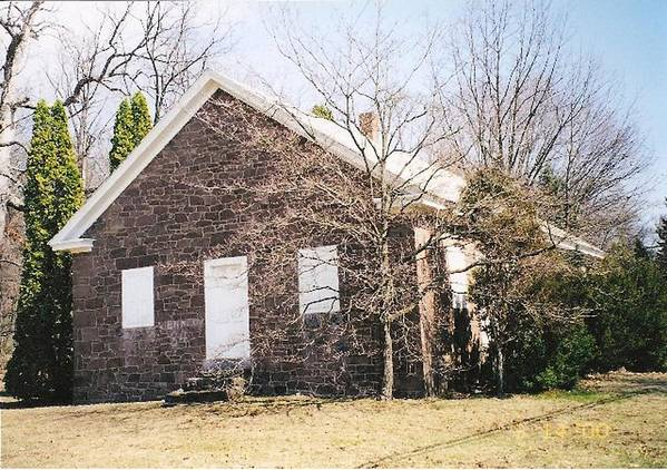 Quaker Meeting House Poster featuring the photograph Red Land Quaker House by Darlene Prowell
