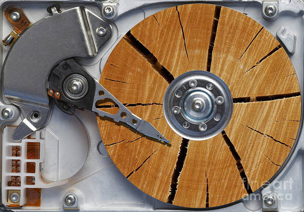 Humor Poster featuring the photograph Very Old Hard Disc by Michal Boubin