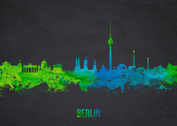 Architecture Poster featuring the digital art Berlin Germany by Aged Pixel