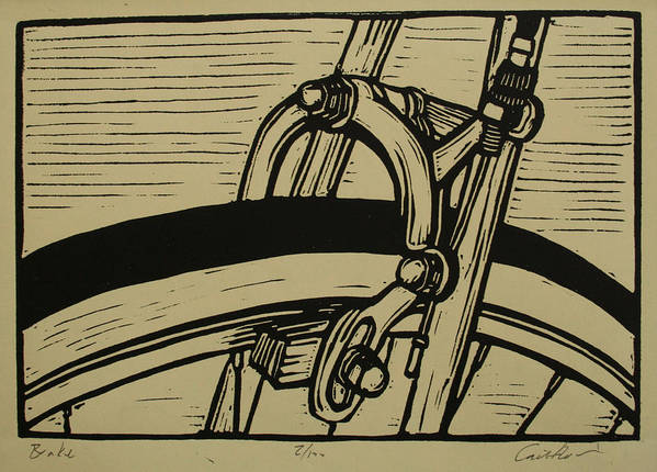 Printmaking Poster featuring the drawing Brake by William Cauthern