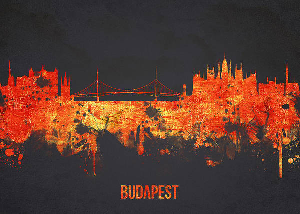 Architecture Poster featuring the digital art Budapest Hungary by Aged Pixel