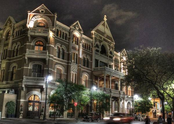 Driskill Hotel Poster featuring the photograph Driskill Hotel by Jane Linders