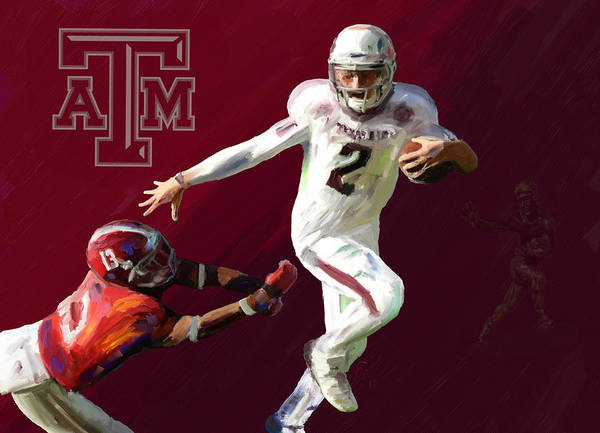 Johnny Manziel Poster featuring the painting Johnny Football by GCannon