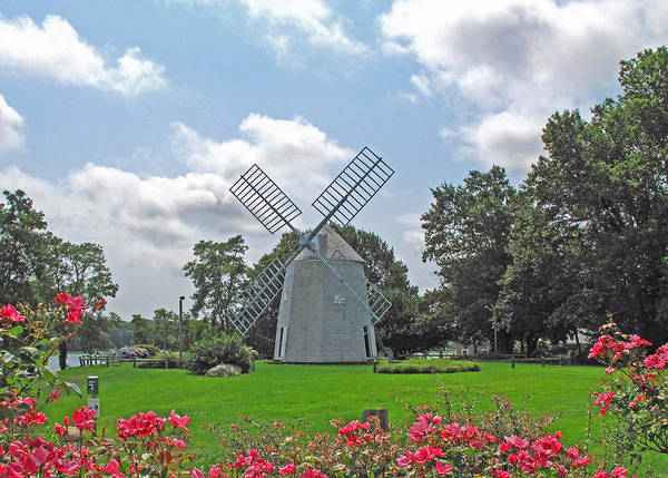 Windmill Poster featuring the photograph Orleans Windmill by Barbara McDevitt