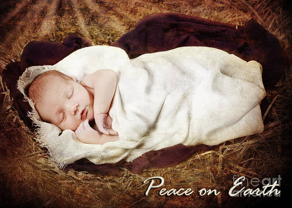 Nativity Poster featuring the photograph Peace On Earth by Cindy Singleton