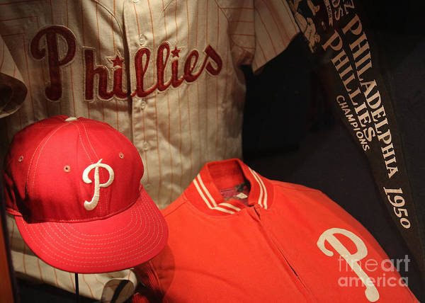 Philadelphia Poster featuring the photograph Philadelphia Phillies by David Rucker
