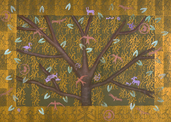 Tree Poster featuring the mixed media Tree Of Life by Diana Perfect