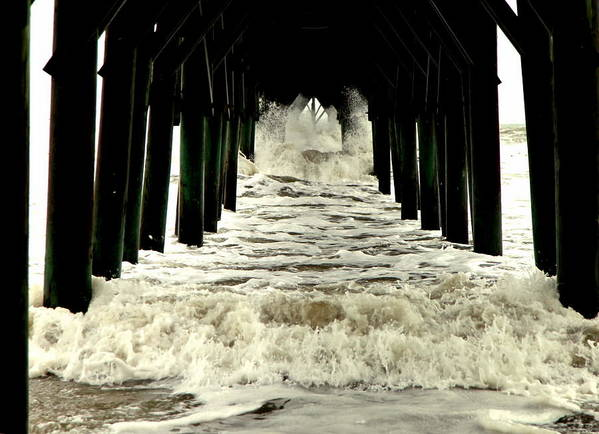 Seascapes Poster featuring the photograph Tunnel Vision by Karen Wiles
