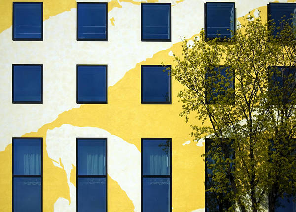 Behrenstra�e Poster featuring the photograph Yellow Facade In Berlin by RicardMN Photography