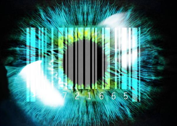 Eye Poster featuring the photograph Biometric Eye Scan by Pasieka