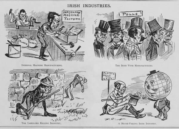 History Poster featuring the photograph An Anti-irish Cartoon Entitled Irish by Everett