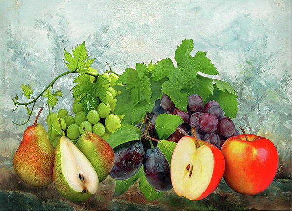 Fruit Poster featuring the photograph Fruit Garden by Manfred Lutzius