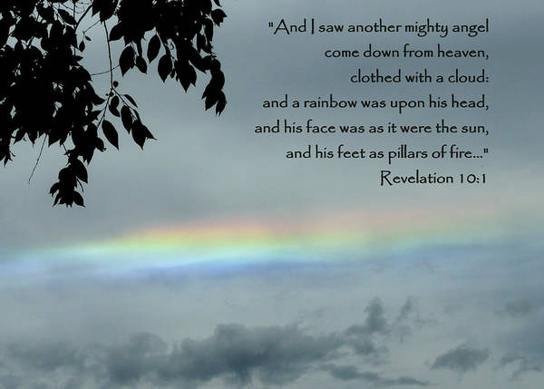 Scripture Poster featuring the photograph Revelation 10 Rainbow by Cindy Wright