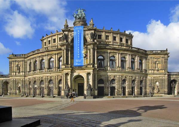 Semperoper Poster featuring the photograph Semper Opera House - Semperoper Dresden by Christine Till