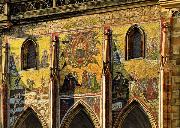 Judgment Poster featuring the photograph The Last Judgment - St Vitus Cathedral Prague by Christine Till