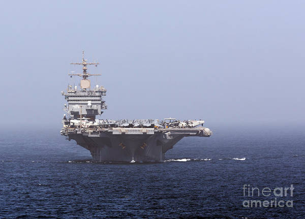 Arabian Sea Poster featuring the photograph Uss Enterprise In The Arabian Sea by Gert Kromhout