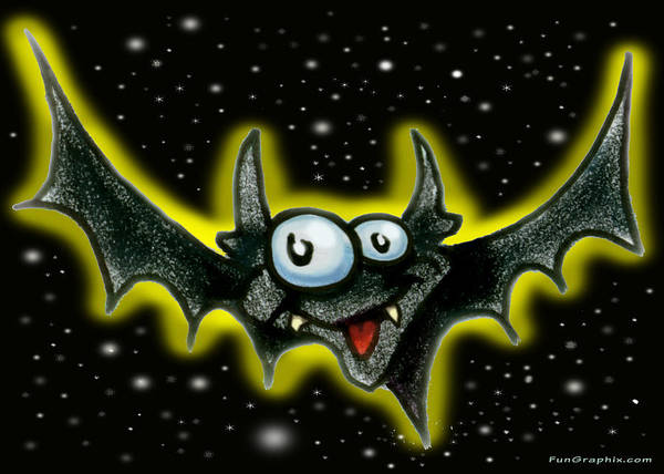 Bat Poster featuring the greeting card Batty by Kevin Middleton