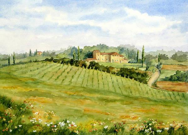 Chianti Villa Poster featuring the painting Chianti Villa by Vikki Bouffard