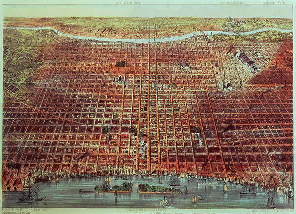 Xjl62076 Poster featuring the painting General View Of Philadelphia by Currier and Ives