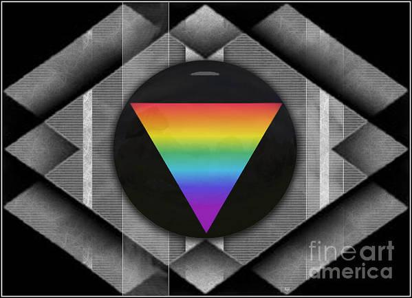 Vertical Lines Digital Art Poster featuring the digital art Geometric Pride by Sue Gardiner
