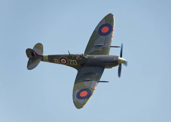 Supermarine Poster featuring the photograph Spitfire Mk9 by Ian Merton