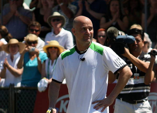 Andre Poster featuring the photograph Tribute To Agassi by Anne Babineau