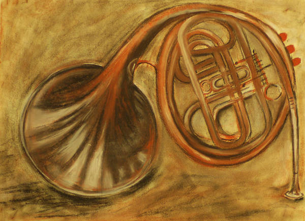 Trumpet Poster featuring the drawing Trumpet by Rashmi Rao
