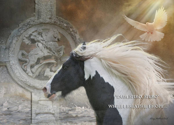 Equine Poster featuring the photograph While I Breathe I Hope by Terry Kirkland Cook