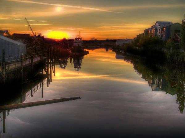 Petaluma Poster featuring the photograph Sunrise On The Petaluma River by Bill Gallagher