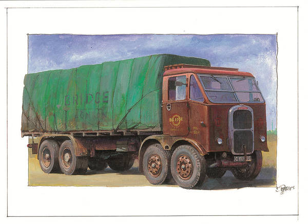 Scammell Poster featuring the painting 1947 Scammell R8 by Mike Jeffries
