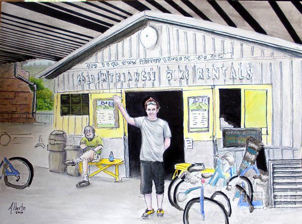 Bike Poster featuring the drawing Bike Pittsburgh by Albert Puskaric