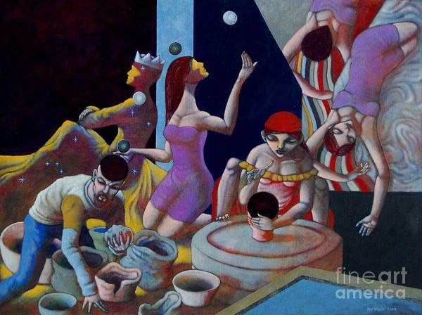 Paul Hilario Poster featuring the painting Fortune Sellers by Paul Hilario