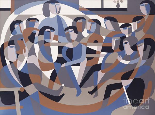 Jordan Poster featuring the painting Jordan Quaker Meeting 2 by Ron Waddams