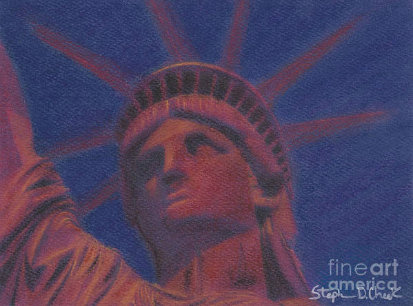 Monument Poster featuring the painting Liberty In Red by Stephen Cheek II